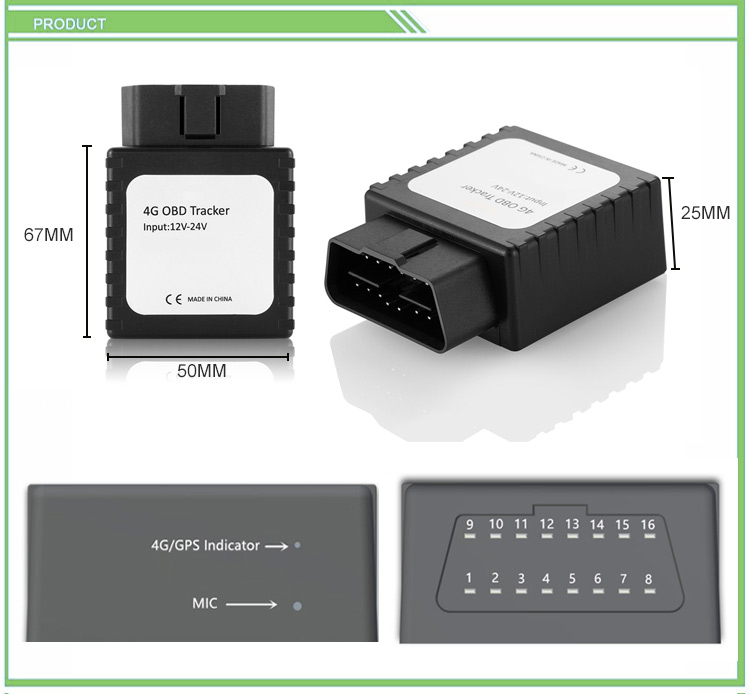 4g OBD II GPS Tracking Device