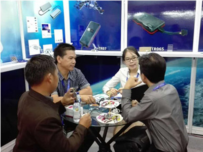 Vehicle GPS tracker Indonesia Exhibition complete success