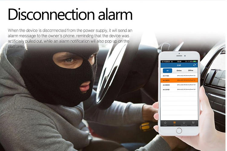 GPS tracking monitoring alarm
